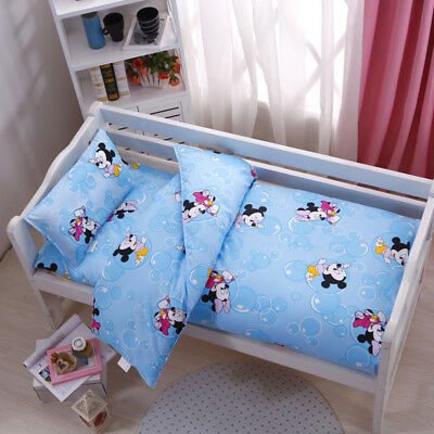 Bubble Mickey Mouse Baby Bedding Crib Cot Sets Quilt Cover Padded Cotton Nursery