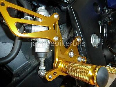 SUZUKI GSXR1000 2001-2004 k1-k4 FULLY ADJUSTABLE CNC REAR SETS NEW GOLD S11R