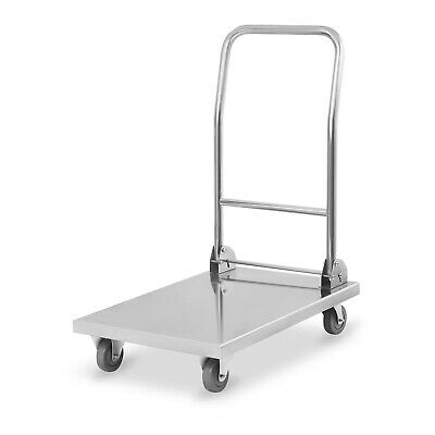 Royal Catering Trolley Stainless Steel Transport Carriage Loading Trolley 400 kg
