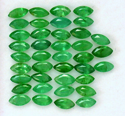 1.59 CTS Natural Emerald Marquise Cut Calibrated 4x2 mm Lot 20Pcs Loose Gemstone