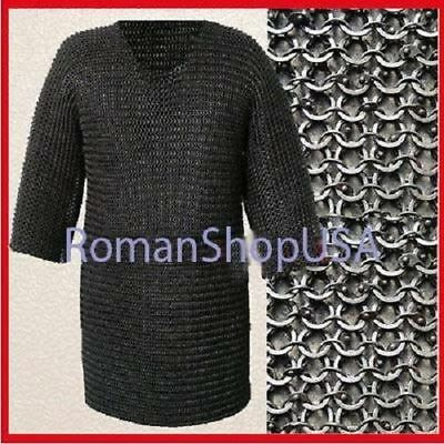 Hauberk Round Riveted Flat Washer Chainmail Large Size Armour Costume