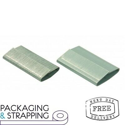 2000 x Steel Hand Pallet Strapping Seals 13mm X 25mm - Lap Over