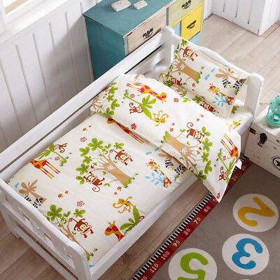 Forest Animals New Baby Bedding Crib Cot Set Quilt Cover Padded Cotton Nursery