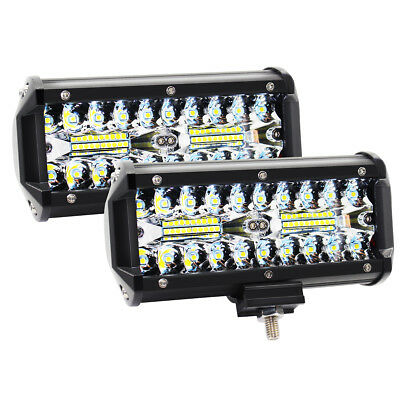 "7""inch 120W Cree Led Work Light Bar Flood Spot Suv Boat Driving Lamp Offroad 4WD"