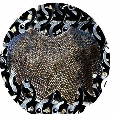 9 mm Avantal Medieval Flat Riveted With Warser Chainmail Armour Costume