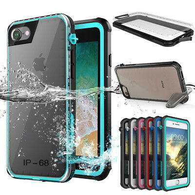 iPhone XS Max 7 8 6s Plus Waterproof Shockproof Dirt Proof Hard Armor Case Cover