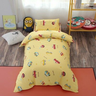 Yellow Cars New Baby Boy Bedding Crib Cot Set Quilt Cover Padded Cotton Nursery