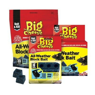 The Big Cheese All-Weather Block Bait In Multiple Packs of 6 15 30 Blocks