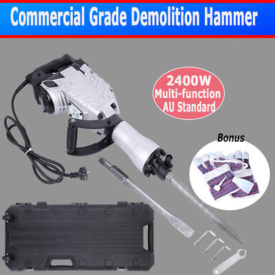 Commercial Grade 2400W Demolition Hammer 360° Rotary Jack Hammer Concrete Drill