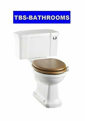 Burlington Rimless, Close Coupled Toilet with Narrow 440 Cistern &  Toilet Seat