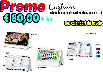 100 Calendars Table with Colour Print Double Side