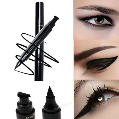 Winged Black Eyeliner Vamp Pen Eye Liner Seal Stamp Head Makeup Waterproof Tool