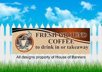 Coffee PVC Printed Banner, Outdoor Market Stall  Take Away Drinks Coffee
