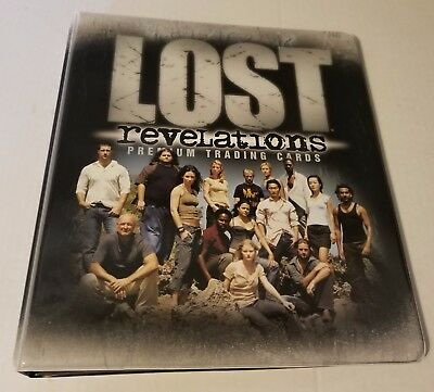 LOT OF (4) LOST Revelations Official INKWORKS  Trading card Padded Binders