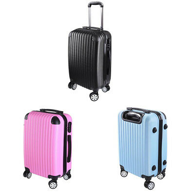 "20"" Cabin Baggage Suitcase Code Lock Hard Shell Journey Carry On Bag Trolley"