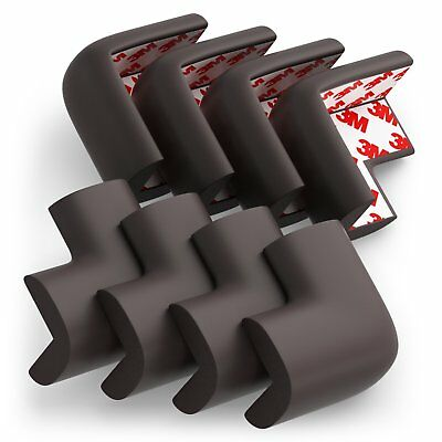 Soft Baby Proofing Corner Guards  Edge Protectors - Pre-Applied 3M tape, 8 PACK