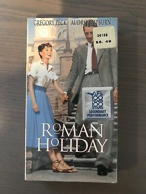 Roman Holiday Gregory Peck Audrey Hepburn Romance Classic VHS NEW