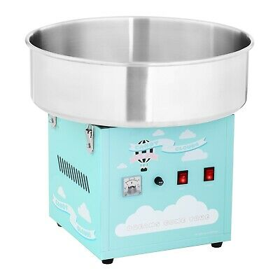 Commercial Candy Floss Machine Spit Protection Cotton Candy Machine Turquoise