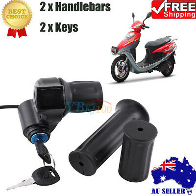 Universal 12-84V Display Throttle Control Grip Handlebar For Scooter Ebike AU