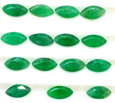 Natural Emerald Marquise Cut Calibrated 6x3 mm 3.78CTS Lot 15 Pcs Loose Gemstone