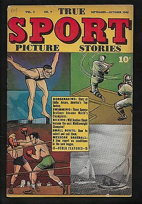 1946 True Sport Picture Stories Comic Book #9 - Street and Smith Baseball Boxing