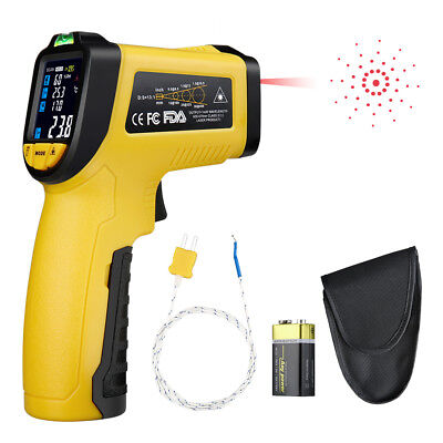 Infrared Thermometer IR-818 -58°F~1382°F Digital IR Temperature Thermocouple