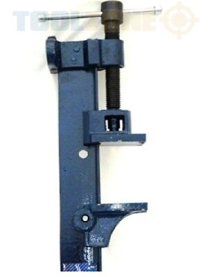 """Toolzone 60"""" Cast Iron T-bar Sash Clamp - T-bar Large 5ft Tall , 1500mm Long"""