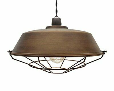 Industrial Antique Style Metal Copper Light Chandelier Fitting 36Cm Light Shade