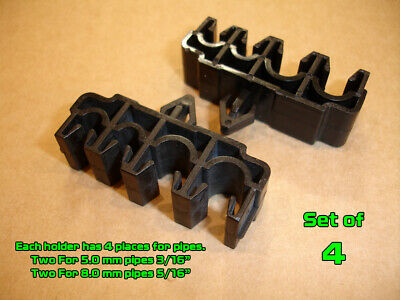 "Set of 2 Multi Plastic Brake Line Pipe Mounting Holder Clips 5mm 8mm 3/16"" 5/16"""