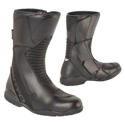 Akito Pathfinder Touring Urban Motorcycle Boots Waterproof Road Black All Sizes