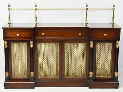 Kittinger Mahogany Empire Style Sideboard with Brass Gallery