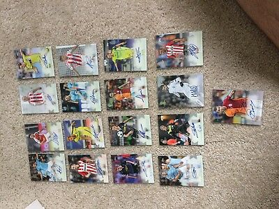 2015-16 Topps UEFA Champions League Autograph Lot of 17 Different