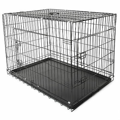 Hundetransportbox XXL 121x76x82cm Hundebox Hundekäfig Transportbox Drahtkäfig