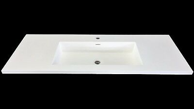 Storcke Oslo Solid Surface Waschbecken 120 x 47 x 14,5 cm in Matt