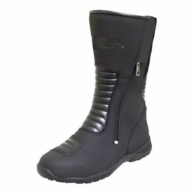 ARMR Moto Sugo Waterproof Touring Motorcycle Motorbike Boots Breathable Black