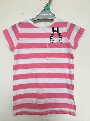 BNWOT Nutmeg T-Shirt. Girls. Age 12 Months - 5 Years. Pink & White Stripe