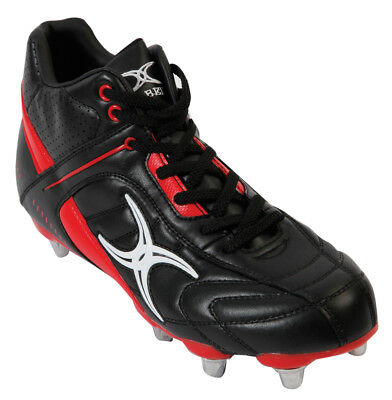 Clearance Line New Gilbert Rugby Sidestep Barbarian Boots 6 Stud Mid Cut Size 4