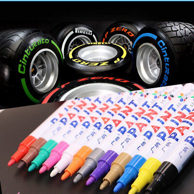 2Pcs Universal Waterproof Permanent Paint Marker Pen Car Tyre Tire Tread Rubber