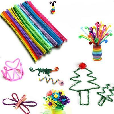 100 Pcs Educational Toys Children Chenille Sticks Pipe Cleaner Crafts DIY Toys`