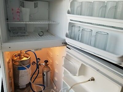 Tapped Refrigerator With Kegerator