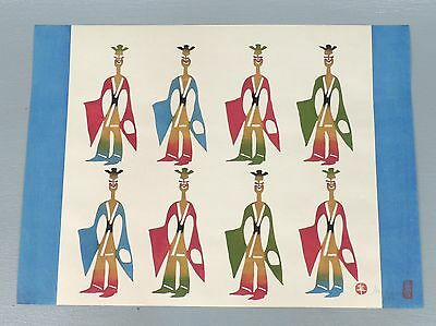 Set 5 Mikumo Mokughansa Japanese Woodblock Prints - Fantasy Six Dynasties Series