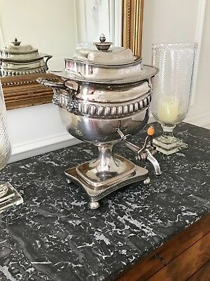 Silver Plate Hot Water Urn -Antique, 19th Century