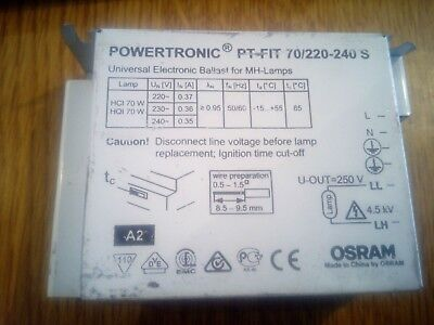 Powertronic PT-FIT 70/220-240 S Universal Electronic Ballast For MH-Lamps