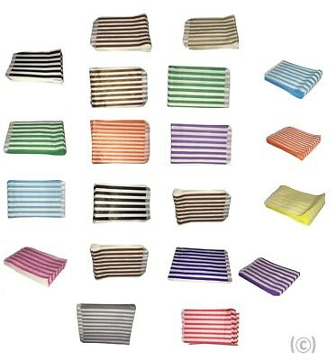 CANDY STRIPE PAPER BAGS SWEET FAVOUR BUFFET GIFT SHOP Colours and White
