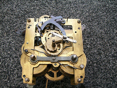 Vintage wall clock movement spares or repair