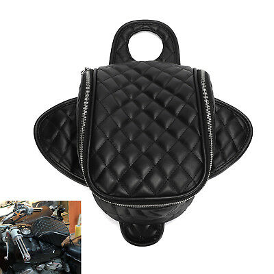 Motorcycle Magnetic Diamond PU Leather Oil Fuel Tank Travel Bag Fit Harley XL883