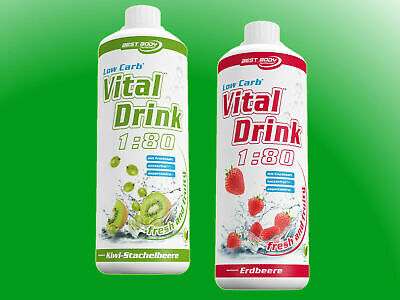 (10,00€/l) Best Body Nutrition Low Carb Vital Drink Mineraldrink  - 2 Flaschen