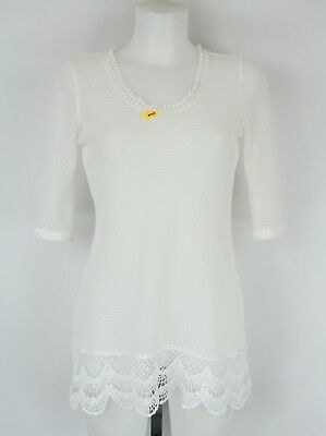 6f111f0b90051 SOLITAIRE SWIM COVER Up Size Medium White flowy cut outs -  19.99 ...
