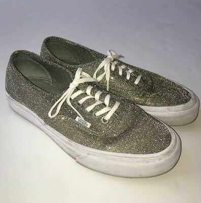 1a5895562c Vans AUTHENTIC Womens Shoes Chunky Glitter Sparkly True White Women s 9  Mens 7.5