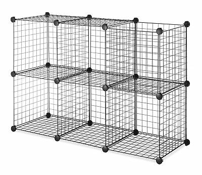Surprising Whitmor Storage Cubes Stackable Interlocking Wire Shelves Black Set Of 6 Download Free Architecture Designs Embacsunscenecom